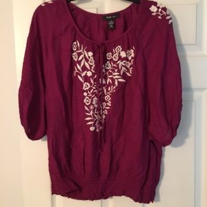 Style & Co Embellished Blouse